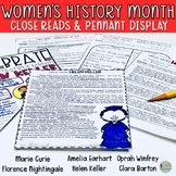 Women's History Month Biography Comprehension Passages and