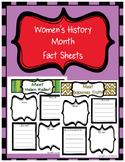 Women's History Month Information Sheets