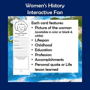 Women in History Interactive Fan