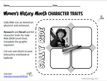 Women's History Month Interactive Notebook & Reading Activities 2 Pack