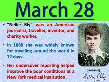 Women's History Month - March Trivia Calendar (PowerPoint)