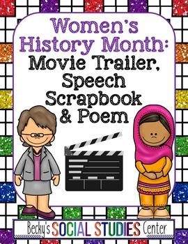 Women's History Month - Middle School: Movie Trailer, Scra