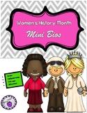 Women's History Month Mini Biographies