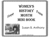 Women's History Month - Mini Book - Free - Susan B. Anthony