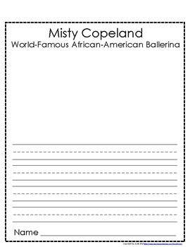Women's History / Black History: Misty Copeland - African-American Ballerina