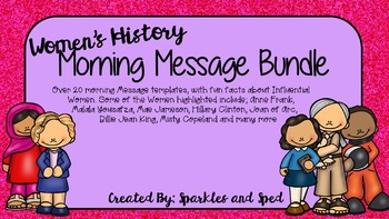 Women's History Month Morning Message set