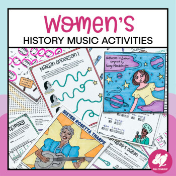 Women's History Month Music Worksheets, Coloring, and Music Centers Activities