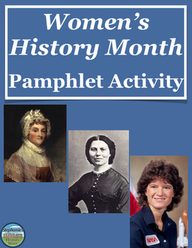Women's History Month Pamphlet Activity