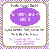 """Women's History Month Poetry -Beyonce """"Pretty Hurts"""""""