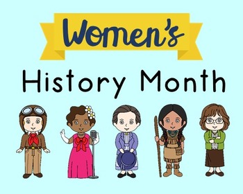Women's History Month Poster, Class Decor, Holiday Sign, Bulletin Board