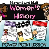 Women's History Month Power Point Lesson