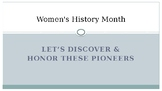 Women's History Month Power Point Presentation