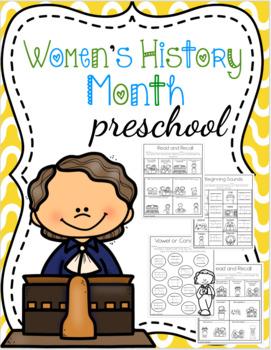 Women's History Month Preschool
