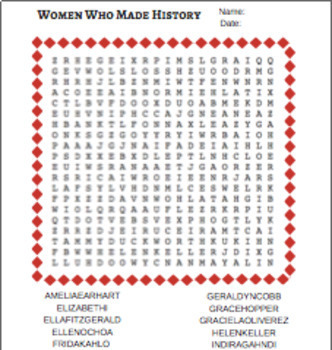 Women's History Month Puzzle Pack