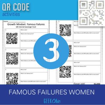 Women's History Month QR CODE Famous Failures *WOMEN* - scavenger hunt!