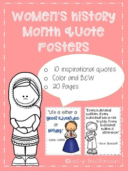 Women's History Month Quote Posters