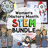 March Women's History Month READ ALOUD STEM™ Activities and Challenges BUNDLE