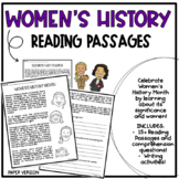 Women's History Month Reading Activity | Paper Version