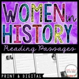 Women's History Month Reading Comprehension Passages | Distance Learning