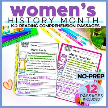 Women's History Month Reading Comprehension Passages (K-2) - Social Studies