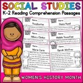 Womens History Month Reading Comprehension Passages K-2