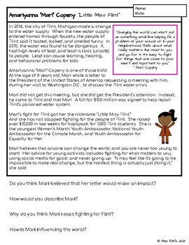 Women's History Month Reading Comprehension Passages & Response Forms