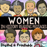 Women's History Month Reading Comprehension Passages  Women's History Activities