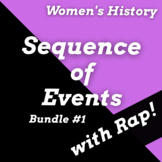 Women's History Month Reading Passages, Sequence of Events Worksheets & Songs #1