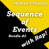 Women's History Month Reading Passages, Sequence of Events Worksheets & Songs #2