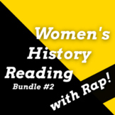 Women's History Month Reading Comprehension Passages, Activities & Rap Songs #2