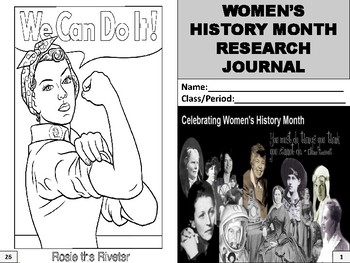 Women's History Month Research Journal