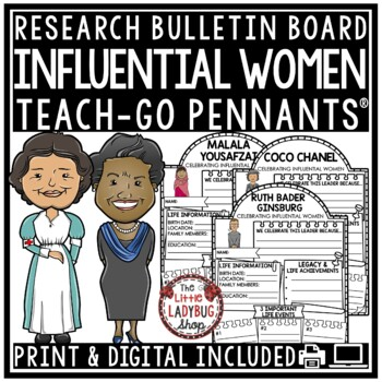 Women's History Month Research Organizers  • Teach- Go Pennants™