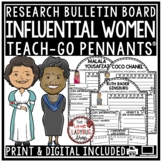 Women's History Month Bulletin Board & Famous Women's History Month Research