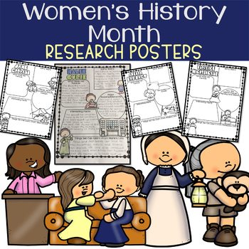 Women's History Month - Research Organizers and Posters of Famous Women
