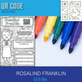 Women of Science Rosalind Franklin QR CODE biography coloring activity page