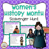 Women's History Month Scavenger Hunt & Word Search