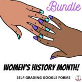 Women's History Month Self-Grading Google Forms BUNDLE MID