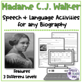 Women's History Month Speech Therapy Activities | Madame CJ Walker