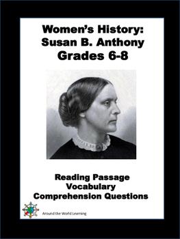 Women's History Month: Reading Passage - Susan B. Anthony