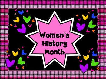 Women's History Month Task Cards / Scavenger Hunt and PowerPoint Presentation