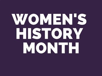 Women's History Month Timeline