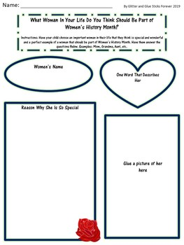 Women's History Month Toddler and Preschool Pack