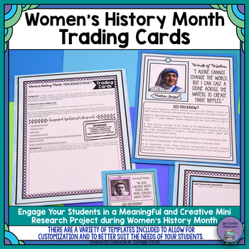 Women's History Month Trading Cards: Mini-Research Project