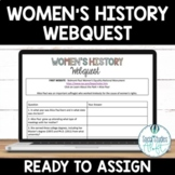 Women's History Month Webquest - Editable Google Doc™ & Paper Version