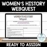 Women's History Month Webquest Digital Activity Google Doc