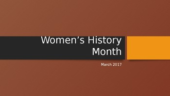 Women's History Month: Women's Suffrage