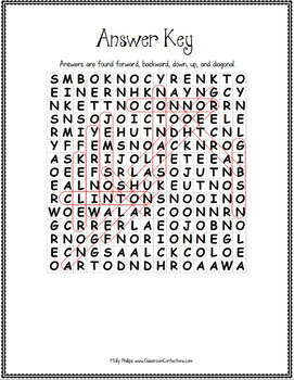 Women's History Month: Word Search