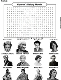 Women's History Month Activity: Word Search Worksheet