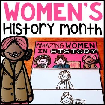 Women's History Month flip book