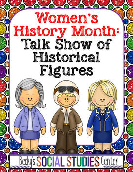 Women's History Month for Middle School: Student Talk Show